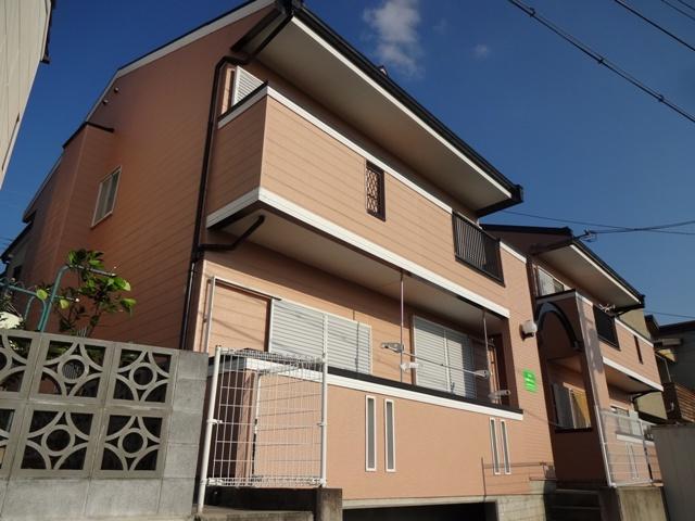 大阪府交野市、河内磐船駅徒歩13分の築23年 2階建の賃貸アパート