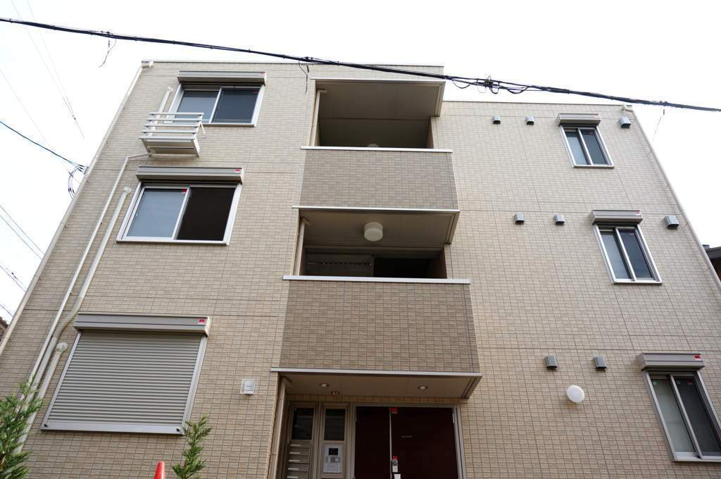 大阪府大阪市城東区、鴫野駅徒歩10分の築2年 3階建の賃貸アパート