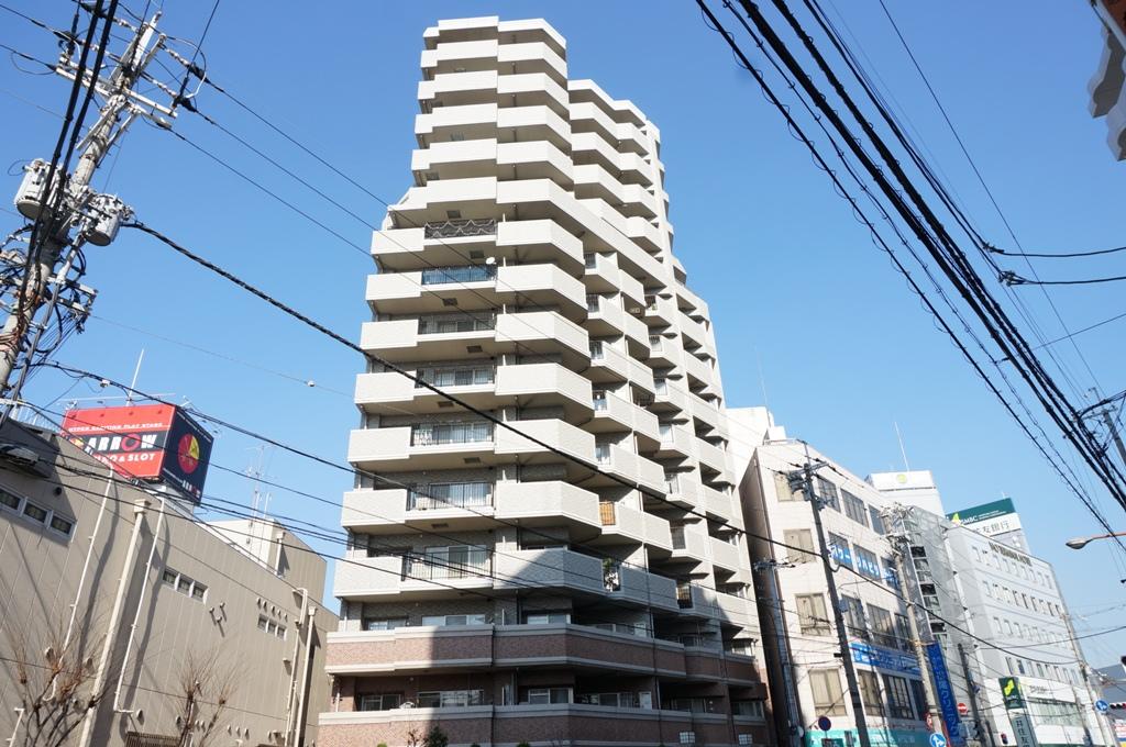 大阪府八尾市、久宝寺口駅徒歩17分の築13年 15階建の賃貸マンション