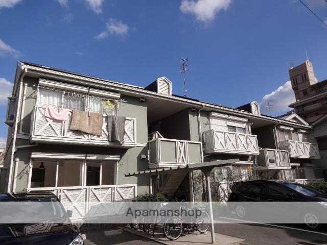 大阪府羽曳野市、土師ノ里駅徒歩20分の築25年 2階建の賃貸アパート