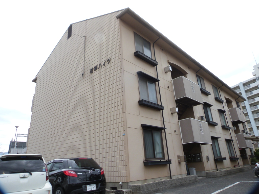 大阪府八尾市、近鉄八尾駅徒歩8分の築30年 3階建の賃貸アパート