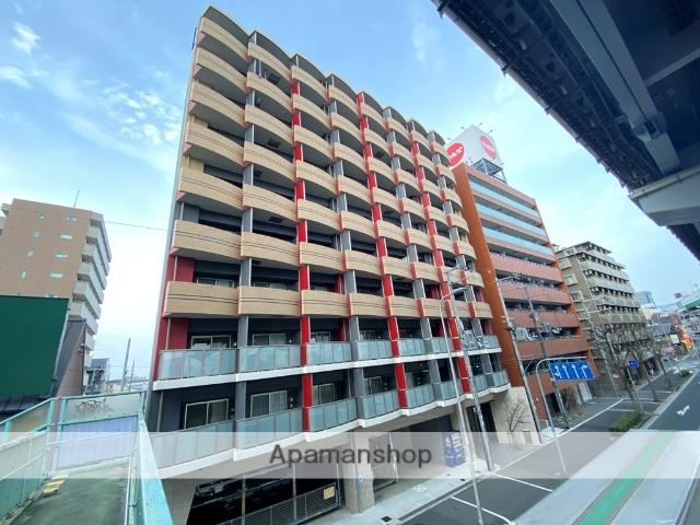 大阪府東大阪市、放出駅徒歩18分の築3年 10階建の賃貸マンション