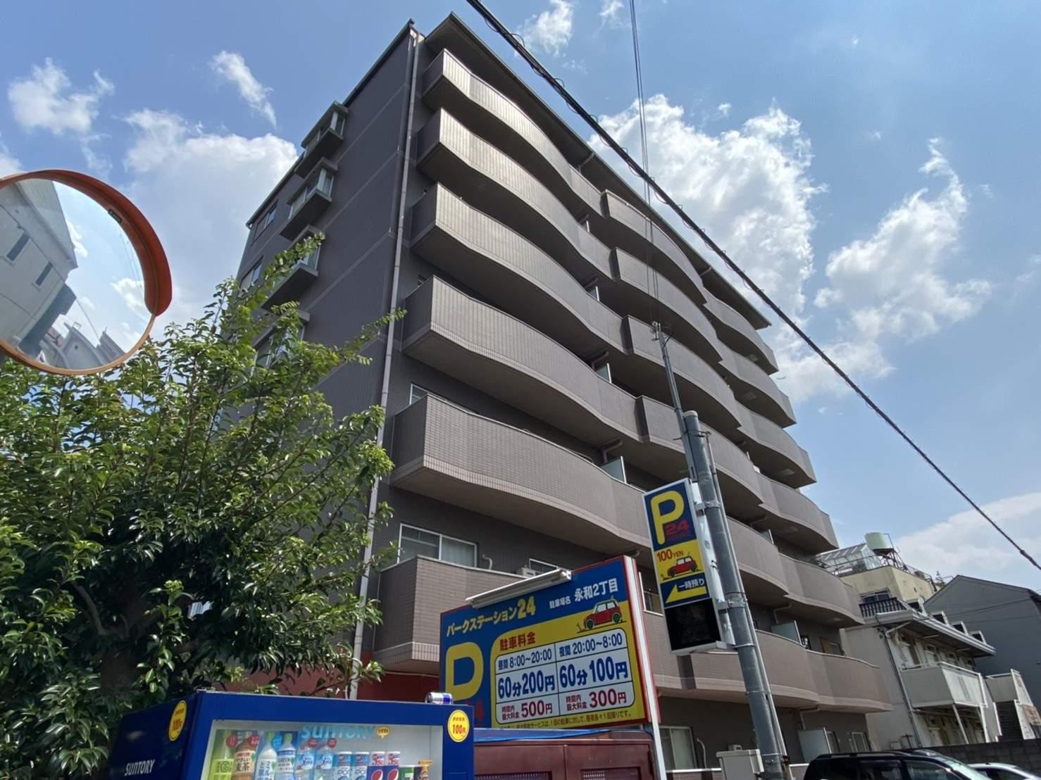 大阪府東大阪市、JR俊徳道駅徒歩3分の築22年 7階建の賃貸マンション