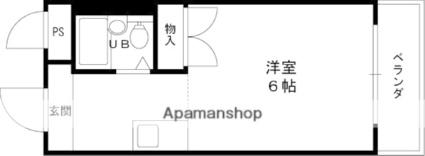 大阪府枚方市星丘1丁目[1R/19m2]の間取図