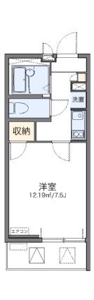 レオネクスト御影本町[1K/22.83m2]の間取図