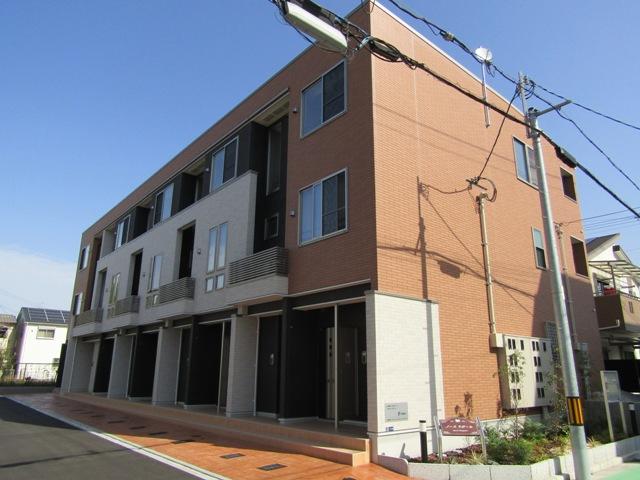 大阪府東大阪市、河内花園駅徒歩16分の新築 3階建の賃貸アパート