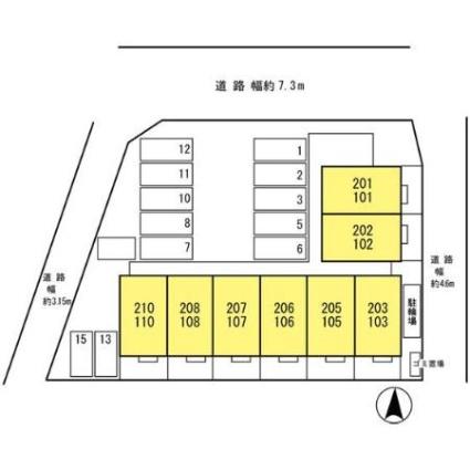 兵庫県伊丹市南鈴原1丁目[1LDK/35.18m2]の配置図