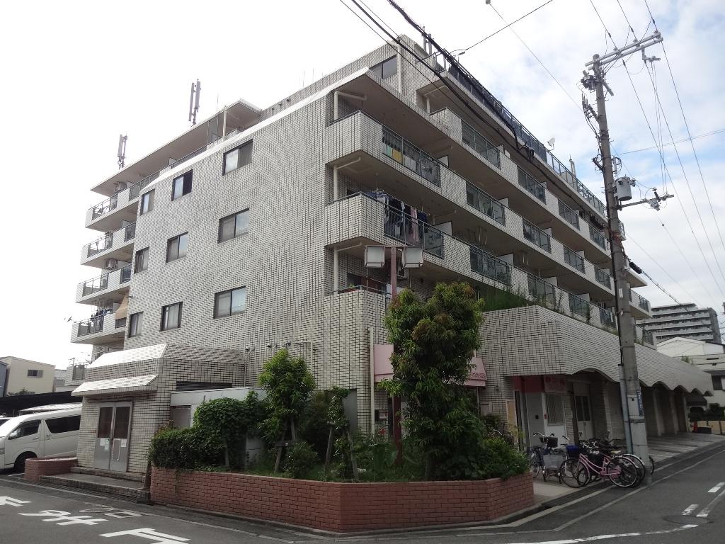 大阪府東大阪市、俊徳道駅徒歩4分の築31年 6階建の賃貸マンション