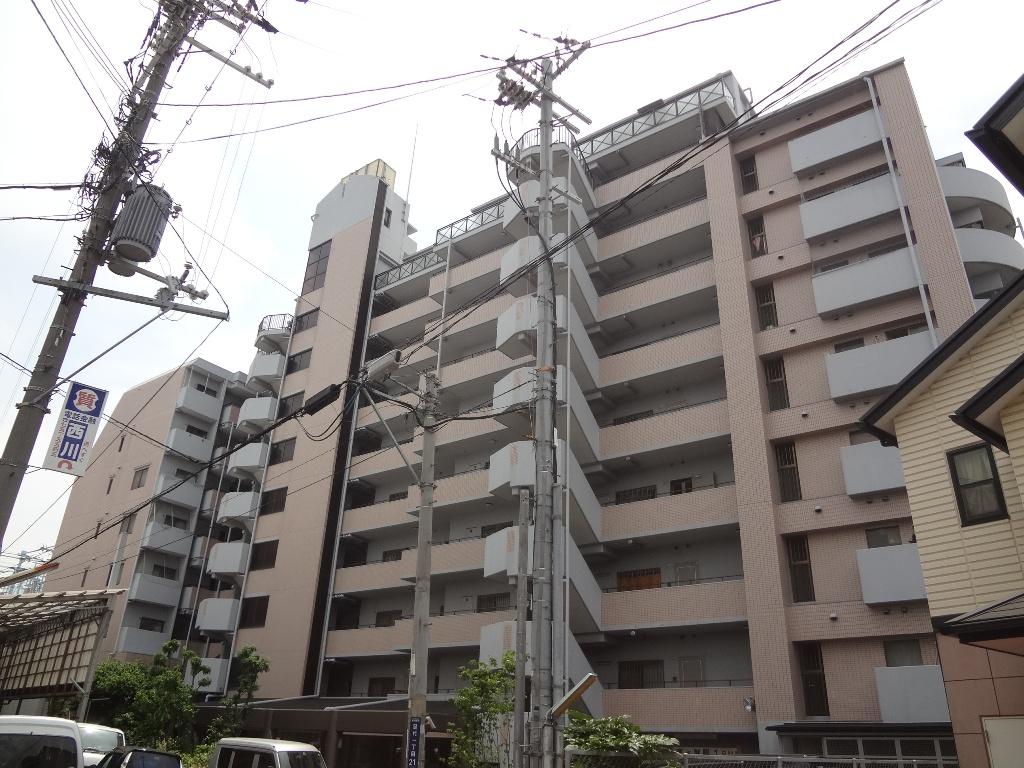 大阪府東大阪市、俊徳道駅徒歩15分の築24年 10階建の賃貸マンション