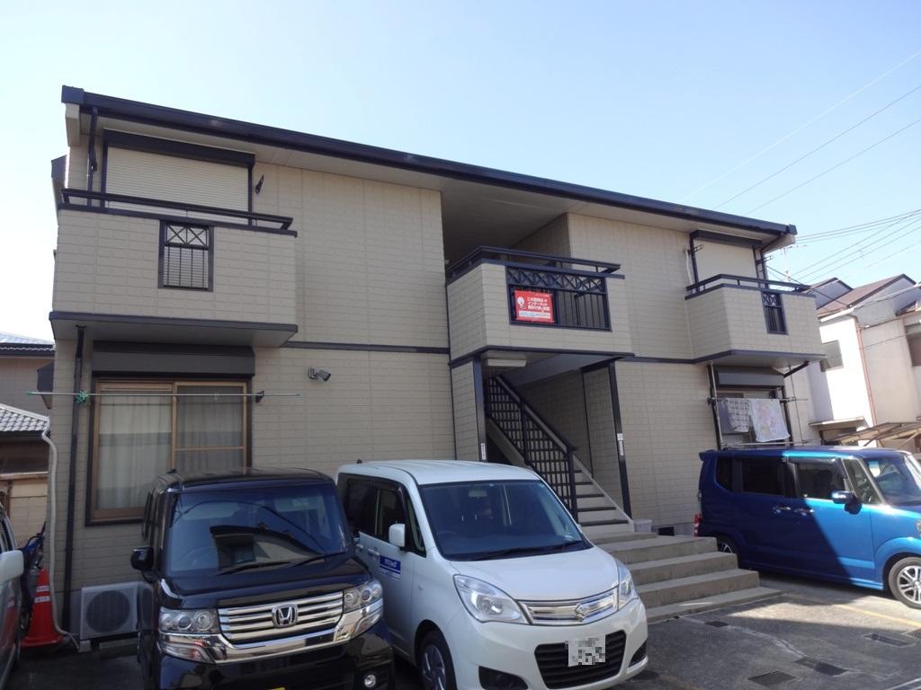 大阪府羽曳野市、恵我ノ荘駅徒歩22分の築26年 2階建の賃貸アパート