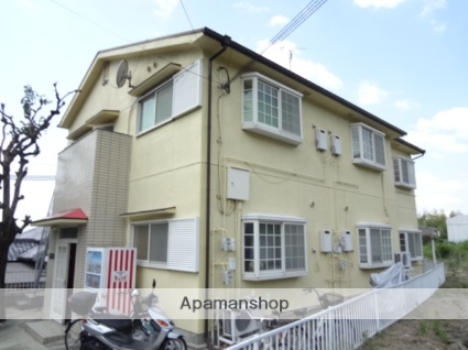 大阪府八尾市、服部川駅徒歩21分の築25年 2階建の賃貸アパート