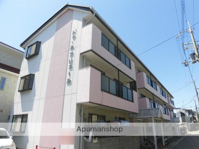 大阪府高槻市、高槻駅徒歩24分の築26年 3階建の賃貸マンション