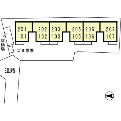 ザウバーヴィント[1K/30.24m2]の配置図