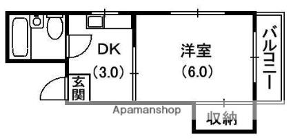 ディーム香里β[1K/18m2]の間取図