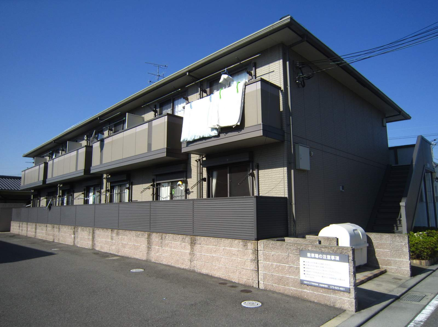 京都府八幡市、京田辺駅京阪バスバス15分上奈良下車後徒歩3分の築10年 2階建の賃貸アパート