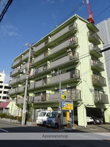 大阪府大阪市東住吉区、東部市場前駅徒歩4分の築28年 6階建の賃貸マンション