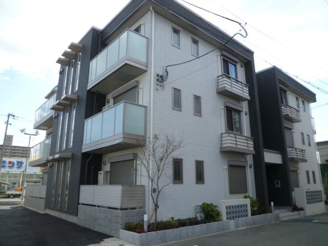 大阪府大阪市平野区、加美駅徒歩16分の築2年 3階建の賃貸マンション