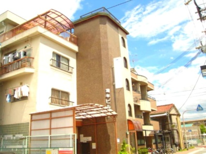 大阪府大阪市東住吉区、針中野駅徒歩25分の築41年 4階建の賃貸マンション