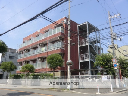 大阪府大阪市平野区、長原駅徒歩5分の築19年 4階建の賃貸マンション