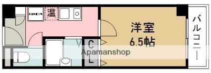 五月フラット池田[1K/25.48m2]の間取図