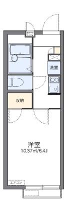 レオパレスエスト桃山台[1K/20.44m2]の間取図