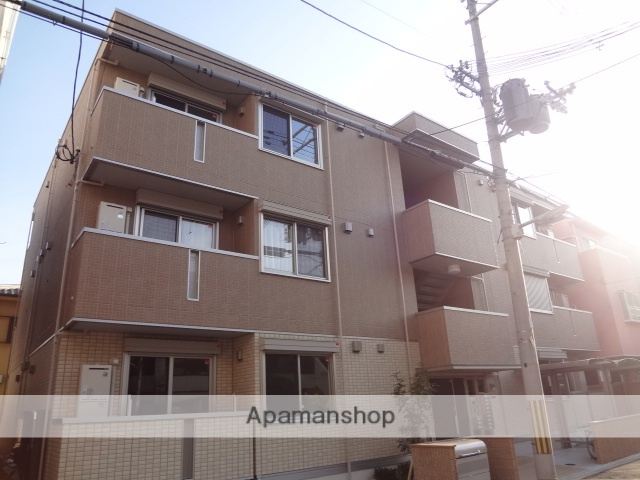 大阪府大阪市東住吉区、針中野駅徒歩11分の築1年 3階建の賃貸アパート