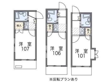 レオパレス矢田第3[1K/16.2m2]の間取図