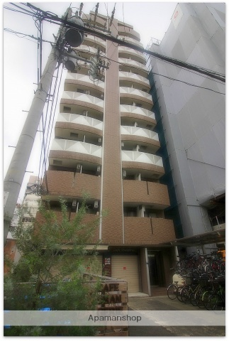 大阪府大阪市中央区、天満橋駅徒歩3分の築17年 12階建の賃貸マンション