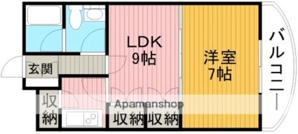 ウィンディⅦ[1LDK/34.12m2]の間取図