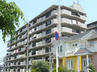 大阪府泉南市、新家駅徒歩7分の築27年 8階建の賃貸マンション