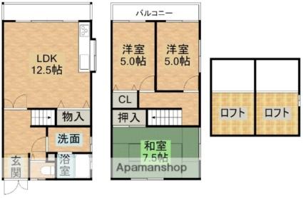 曽根タウンハウス[3LDK/73m2]の間取図