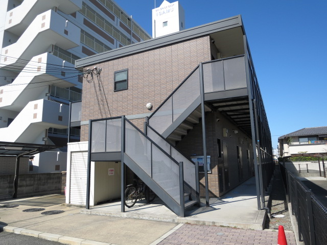 大阪府泉佐野市、日根野駅徒歩22分の築10年 2階建の賃貸アパート