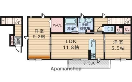 大阪府豊中市中桜塚1丁目[2LDK/66.78m2]の間取図