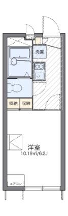 レオパレス六甲ガーデンズ[1K/19.87m2]の間取図
