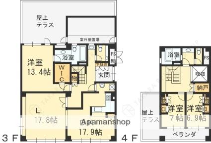 兵庫県西宮市名次町[3LDK/167.15m2]の間取図