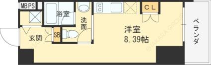 兵庫県神戸市東灘区深江北町4丁目[1R/25.12m2]の間取図