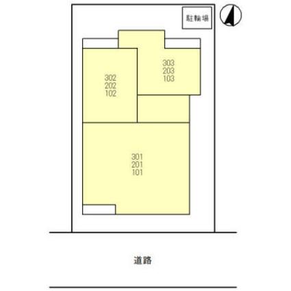 兵庫県神戸市東灘区御影中町4丁目[1LDK/40.16m2]の配置図