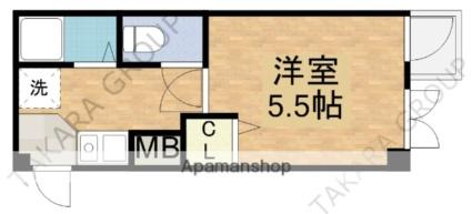 ロンモンターニュ小阪[1K/20.5m2]の間取図