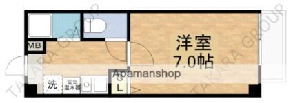 ロンモンターニュ小阪[1K/21m2]の間取図