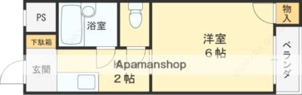 御幸町OKマンションA棟[1K/17.98m2]の間取図
