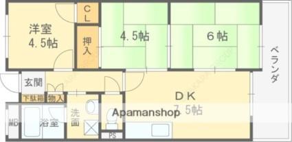 細川グリーンハイツ[3DK/51.52m2]の間取図