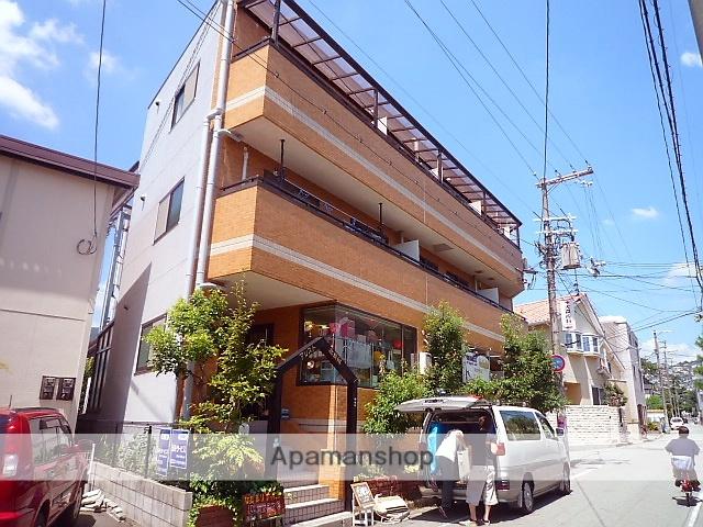 兵庫県西宮市、夙川駅徒歩17分の築23年 3階建の賃貸マンション