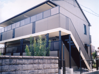 兵庫県西宮市、門戸厄神駅徒歩10分の築17年 2階建の賃貸アパート