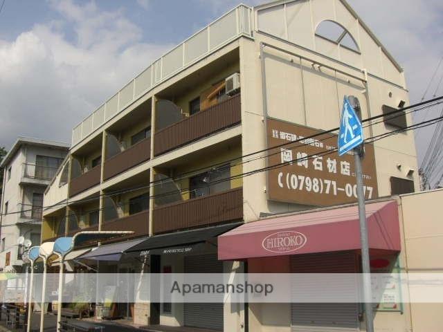 兵庫県芦屋市、芦屋駅徒歩15分の築43年 3階建の賃貸マンション