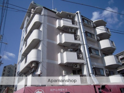 兵庫県神戸市灘区、六甲道駅徒歩15分の築24年 5階建の賃貸マンション