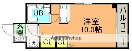 リベルテ岩屋[1R/25m2]の間取図