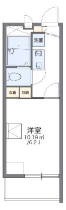 レオパレスYUMENO[1K/19.87m2]の間取図