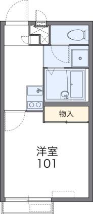 レオパレスNorth六甲[1K/20.28m2]の間取図