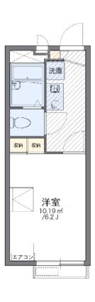 レオパレスサンライズヒル[1K/19.87m2]の間取図