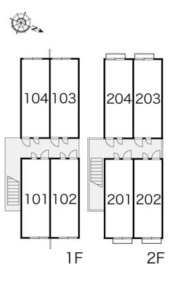 レオパレスクロスロード二葉[1K/19.87m2]の内装2